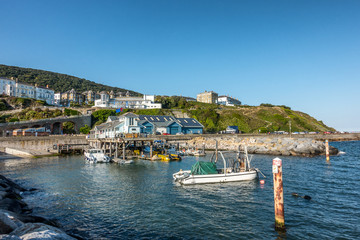 The resort of Ventnor on the Iisle of Wight in England