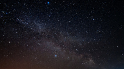 The milky way on a clear night sky