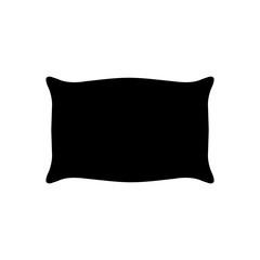 Pillow icon silhouette, logo on white background