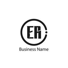 Initial Letter ER Logo Template Design