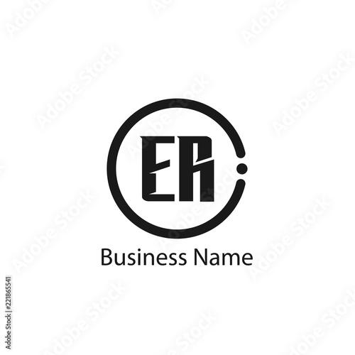 Initial Letter Er Logo Template Design Fichier Vectoriel Libre De