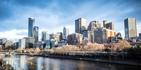 Keuken foto achterwand Oceanië Melbourne CBD Skyline