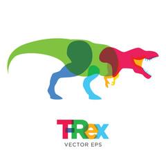 Creative Tyrannosaurus Rex dinosaur Design, Vector eps 10