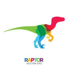 Creative Velociraptor dinosaur Design, Vector eps 10