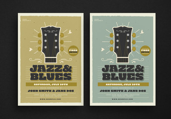 Jazz & Blues Music Flyer Layout