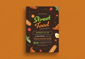 Street Food Festival Flyer Layout