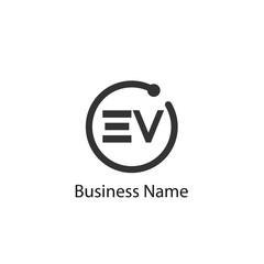 Initial Letter EV Logo Template Design