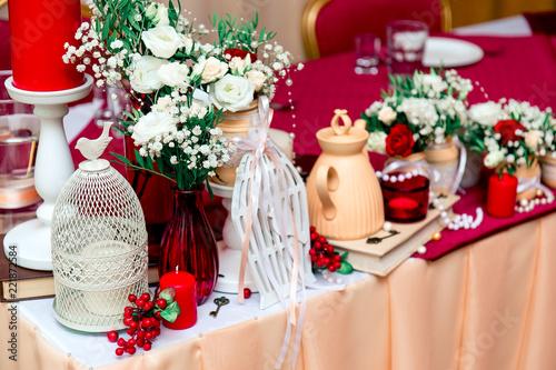 Dark Red Marsala Wine Red Bordeaux Wedding Decor Peach Light