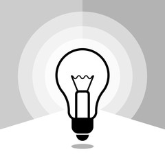 Icon light bulbs in linear style