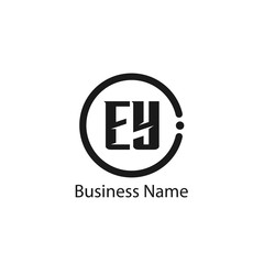 Initial Letter EY Logo Template Design