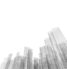 building construction architecture 3d illustration
