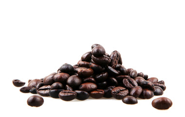 Wall Mural - Coffee Beans isolated on white.