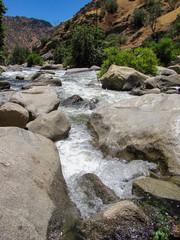 River flowing between rocks, Nevada, USA