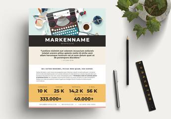 Autoren Media Kit-Layouts