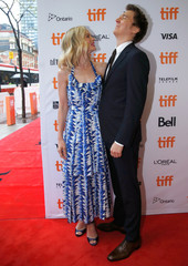 Actor Carey Mulligan and director Paul Dano pose at the Canadian premiere of Wildlife at the Toronto International Film Festival (TIFF) in Toronto