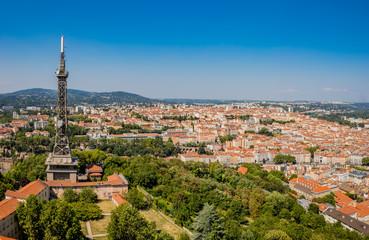 Panorama de Lyon vu depuis la basilique de Fourvière