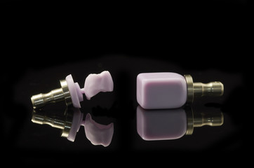 Molar and block of lithium Disilicate glass-ceramic  for the CAD CAM technology