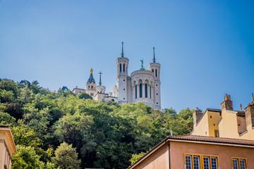 Vu sur la Basilique Notre-Dame-de-Fourvière