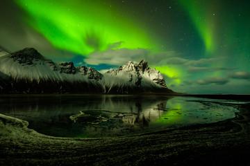 Vestrahorn Island Northern Lights