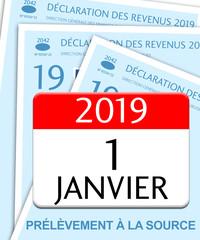 Impôt sur le revenu 2019, prélèvement à la source. Déclaration d'impôt