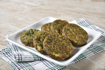 Healthy spinach cakes