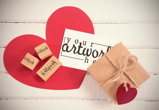 Gift card and Blocks Mockup