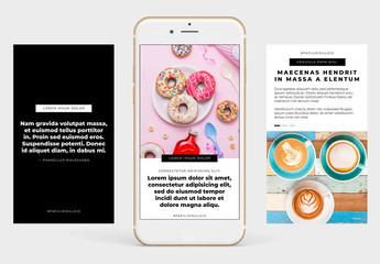 Conjunto básico de historias compatibles con Instagram