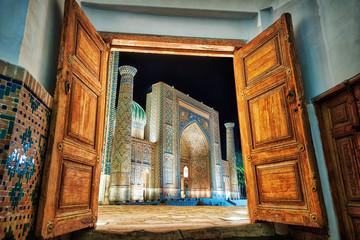 Registan Square in the City Center of Samarkand in Uzbekistan