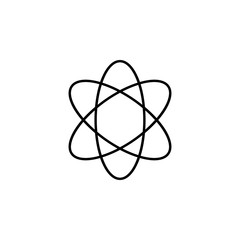 atom icon. Element of school icon for mobile concept and web apps. Thin line atom icon can be used for web and mobile