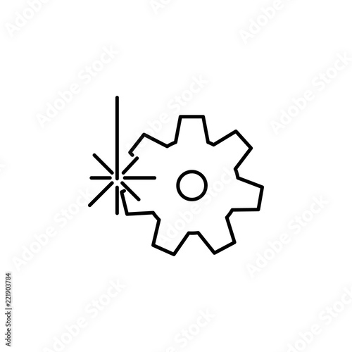 Cogwheel icon  Element of laser application in production