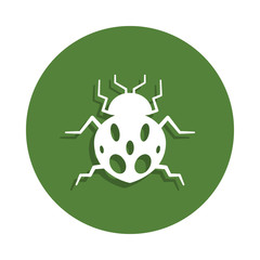 ladybug icon in badge style. One of insects collection icon can be used for UI, UX