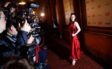 Actor Emily Hampshire arrives for the world premiere of The Death and Life of John F. Donovan at the Toronto International Film Festival (TIFF) in Toronto