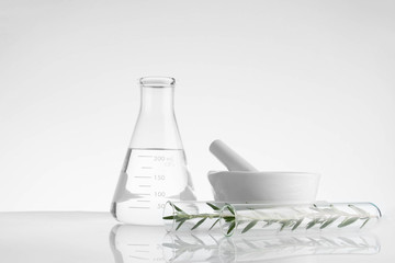 laboratory and research with alternative herb medicine