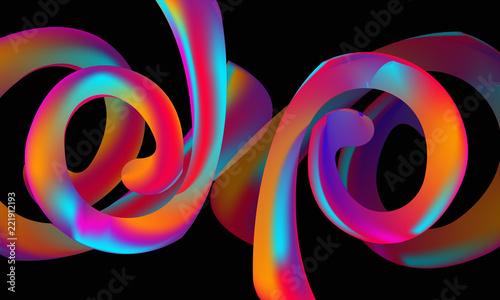 Neon liquid splash colorful   Futuristic fluid paint