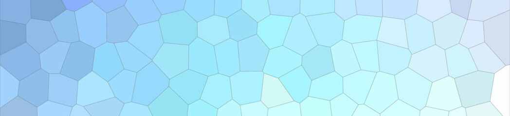 Abstract illustration of blue gree white and red colorful Middle size hexagon banner background, digitally generated.