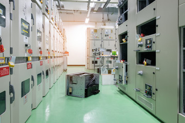 equipment of electrical switchgear panel take off for maintenance shutdown