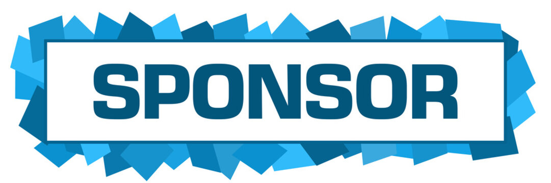 Sponsor Blue Random Shapes Horizontal