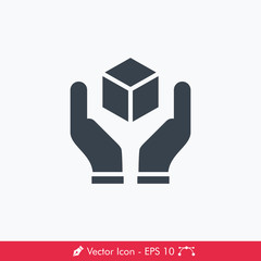Handle with Care (Fragile) Icon / Vector