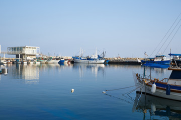 Marina with fishing boats