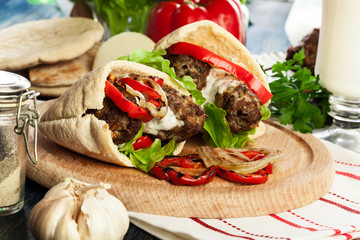 Tasty kofta kebab
