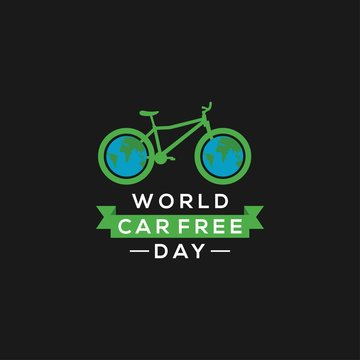 world car free day with icon