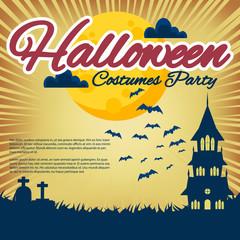 Halloween Design Set Flyer, Background design