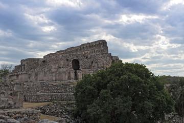 The ruins of the ancient Mayan city of Kabah, Yucatan, Mexico