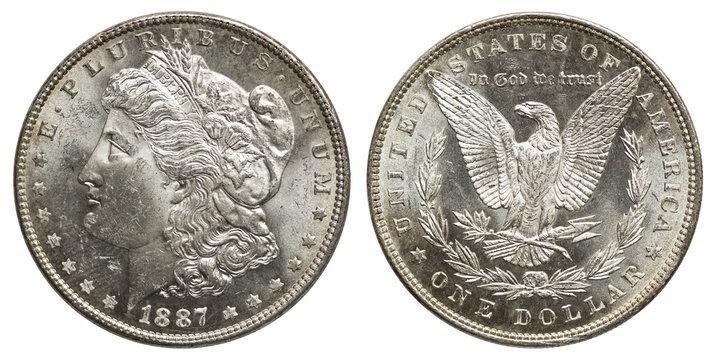 USA 1 Dollar Morgan-Dollar Silber 1887