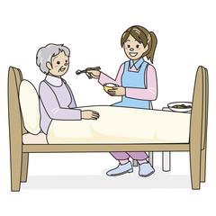 介護士とおばあさん