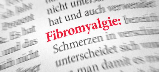 Wörterbuch mit dem Begriff Fibromyalgie