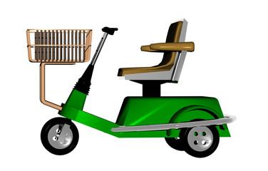 Grünes Elektro Behinderten Fahrzeug