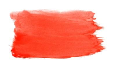Gemalte Fläche mit roter Wasserfarbe