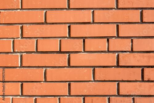 Natural Red Brick Masonry Close Up