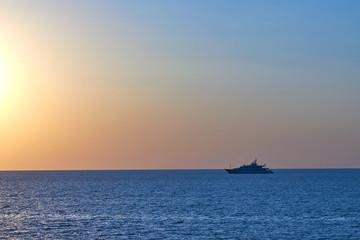 A ship in a sea